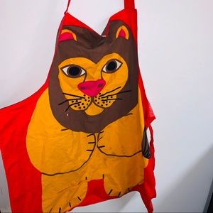 Vintage lion apron smock